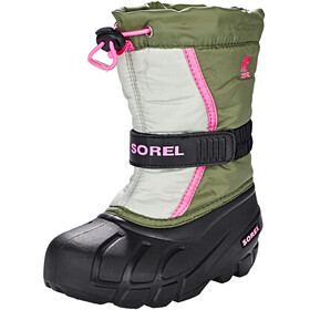 Sorel Kids Flurry Boots Hiker Green/Bubblegum